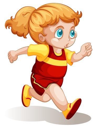 A chubby girl running