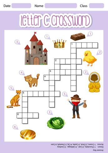 Buchstabe C Kreuzworträtsel Vorlage