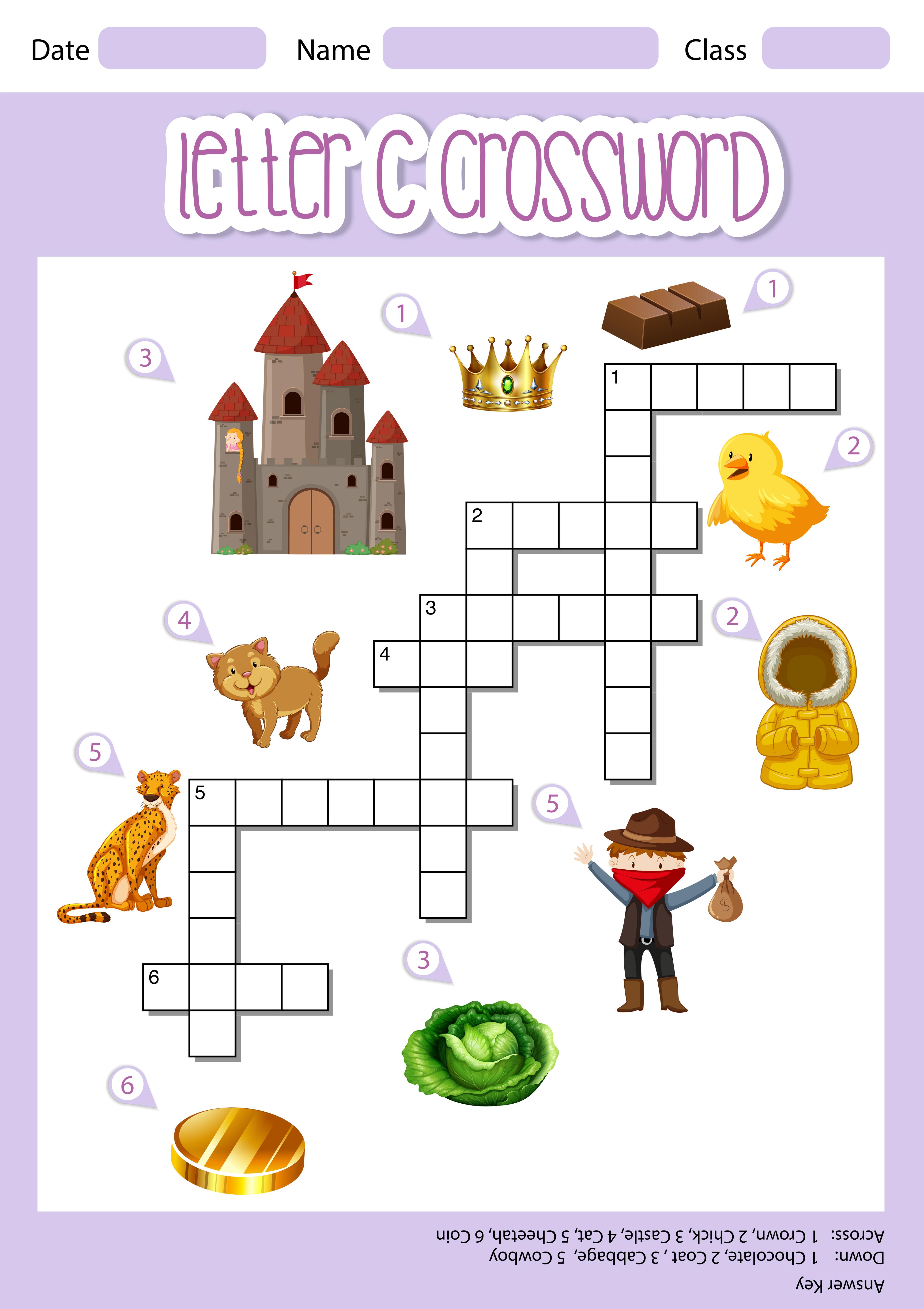 Letter C Crossword Template Download Free Vectors