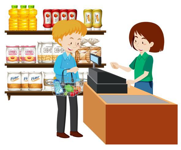 A man glossary shopping vector