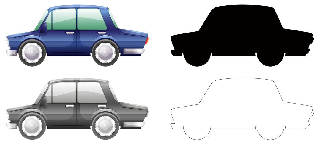 Set of car graphic