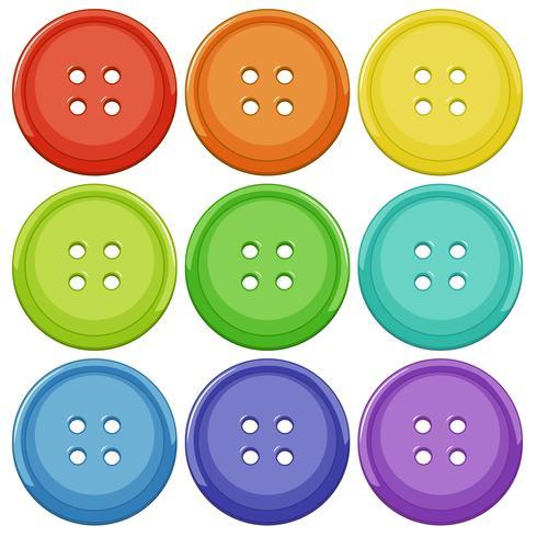 Conjunto de botão colorido