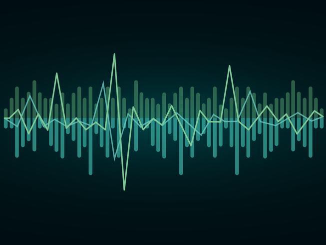 Leven en geluid Vector, abstracte puls achtergrond
