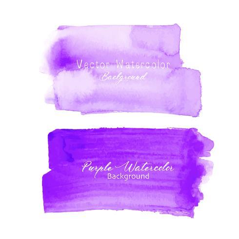 Acuarela púrpura del movimiento del cepillo en el fondo blanco. Ilustracion vectorial