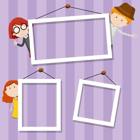 family frame background scene