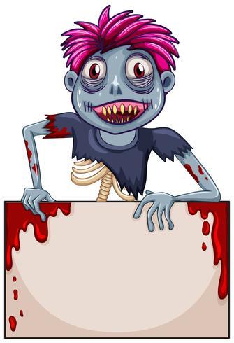 Zombie leeg frame concept