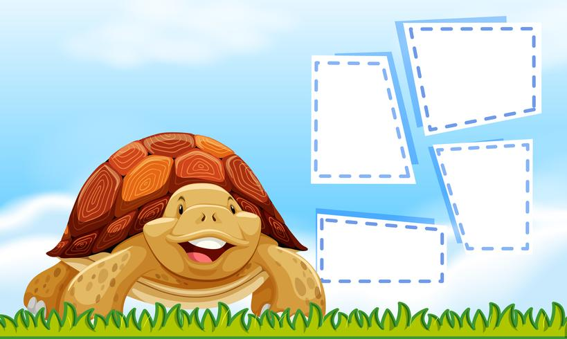 Turtle sky border template