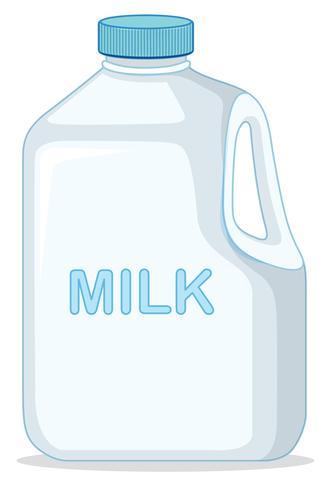 Milk Carton on white background