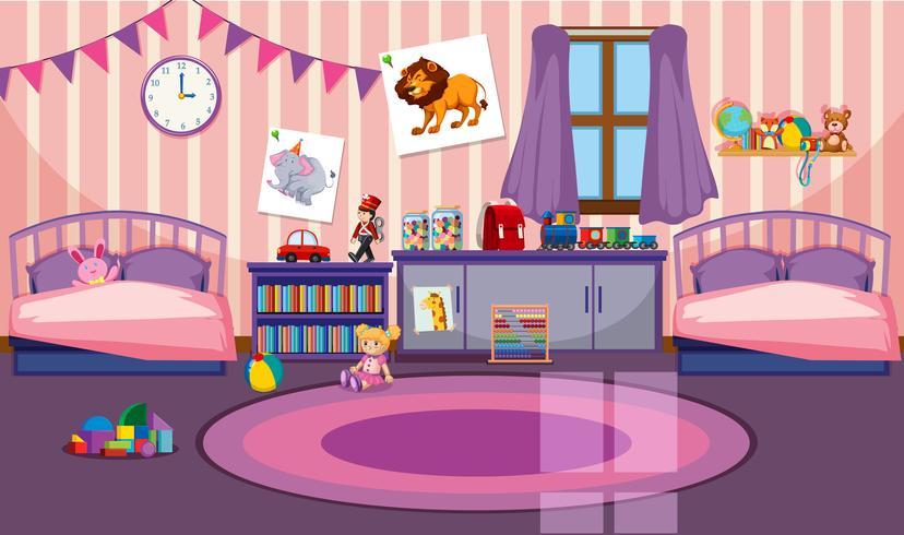 Innenraum des Mädchenzimmers
