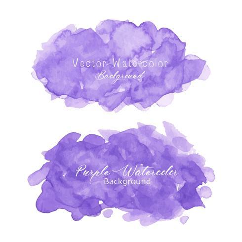 Fondo de acuarela abstracta púrpura. Elemento acuarela para tarjeta. Ilustracion vectorial