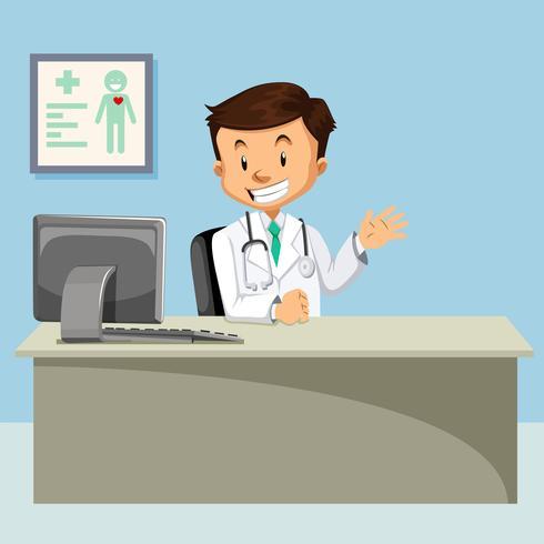 Un medico a sfondo clinica