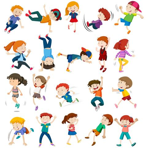 Set of urban children character