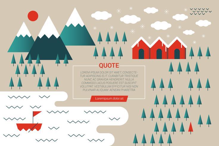 Concetto di montagna invernale vettore
