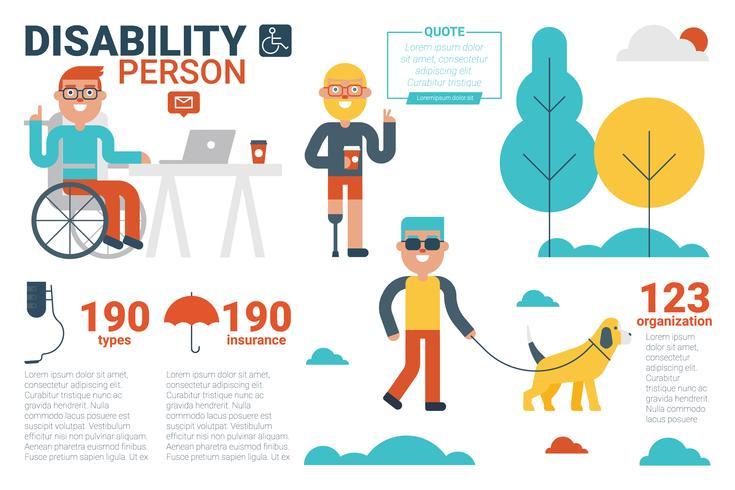handicap persoon concept