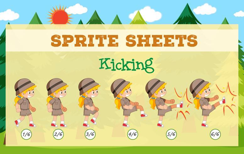 Game sprite sheets kicking