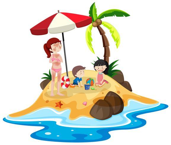 Människor på ön semester
