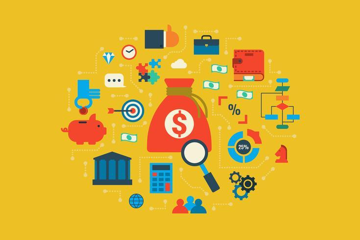 Budget Illustration Konzept