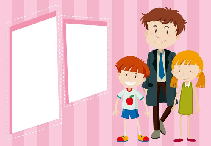 father and children background