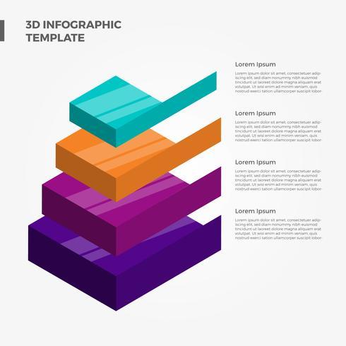 Flat 3D Infográfico Elementos Vector Template