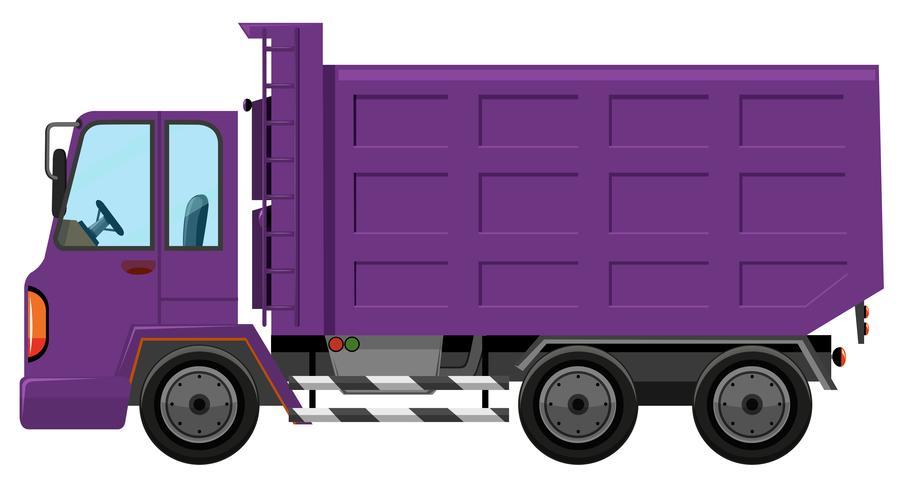 Ein purpurroter LKW auf weißem Hintergrund