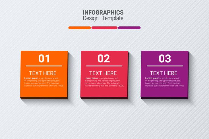 Three steps infographics. Vector business