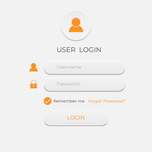 Login and sign in user interface. Business website modern ui template.
