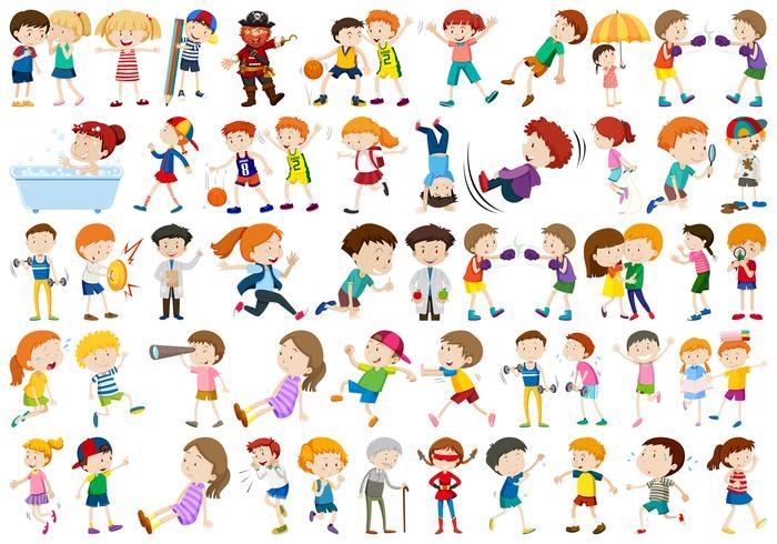 Ensemble de personnages de l'exercice