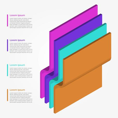Flat 3D Infographic Elements Vector Template