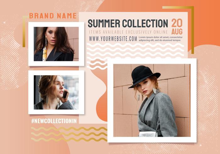 Vector verano colección Banner