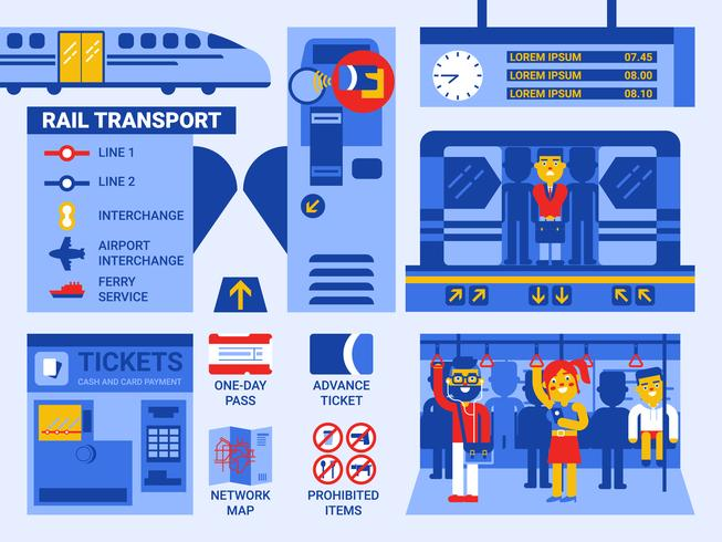 Järnvägstransporter vektor