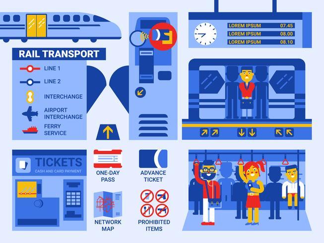 Transporte ferroviario vector