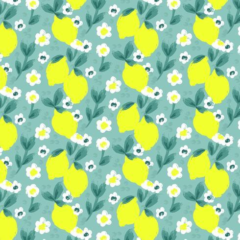 Vector Lemon Seamless Pattern