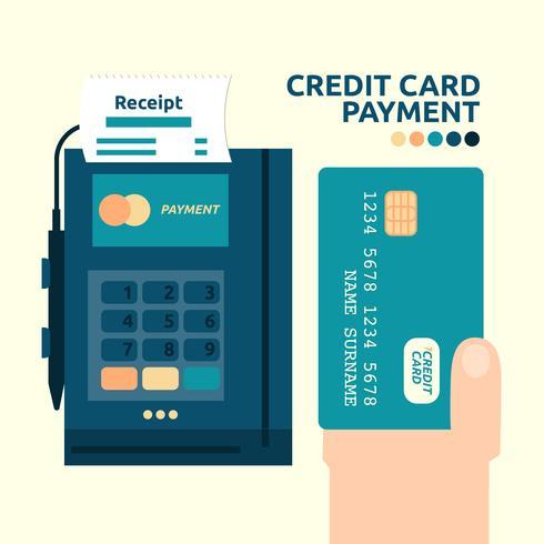 Keditkortsbetalning vektor