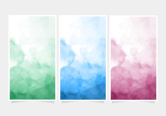 Vector Watercolor Banner Backgrounds