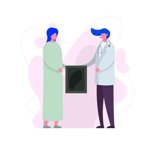 Personajes de salud planos