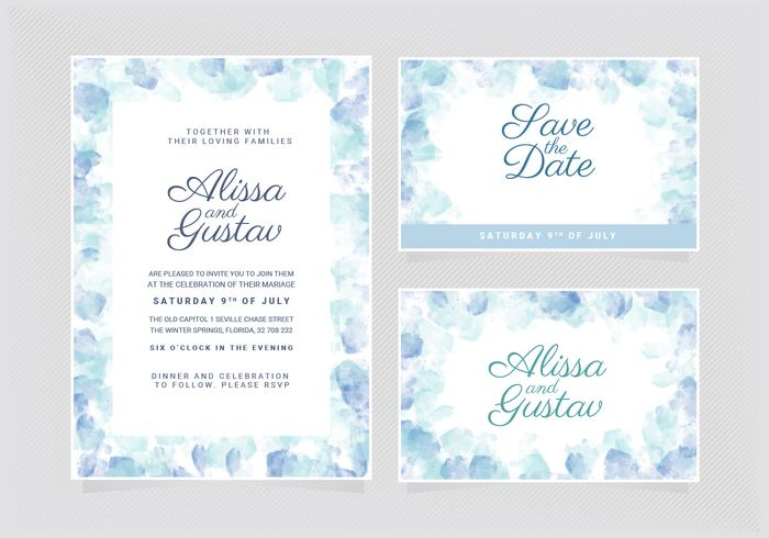 Vector Wedding Invitation Template