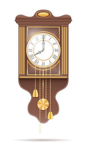 reloj viejo icono retro stock vector ilustración