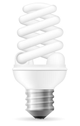 Energiesparende Glühlampe-Vektorillustration