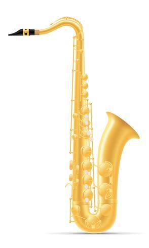 Instrumentos musicales de viento de saxofón stock vector ilustración