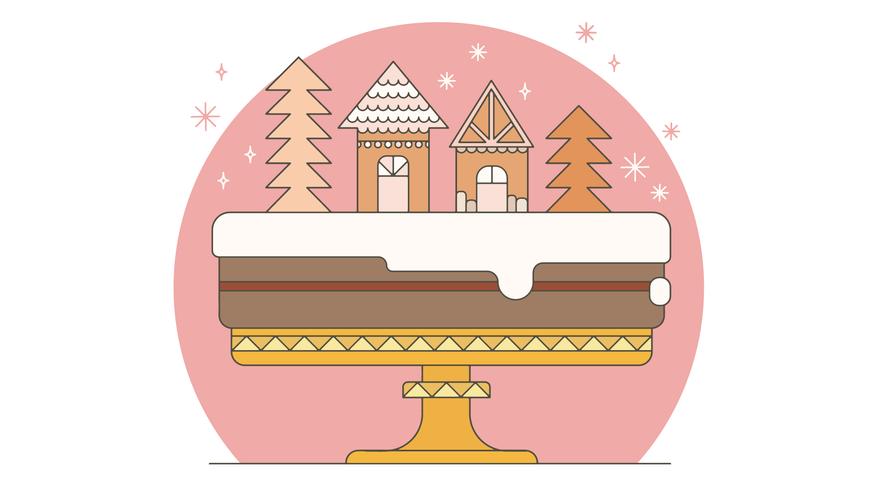 Kerst Cake Vector