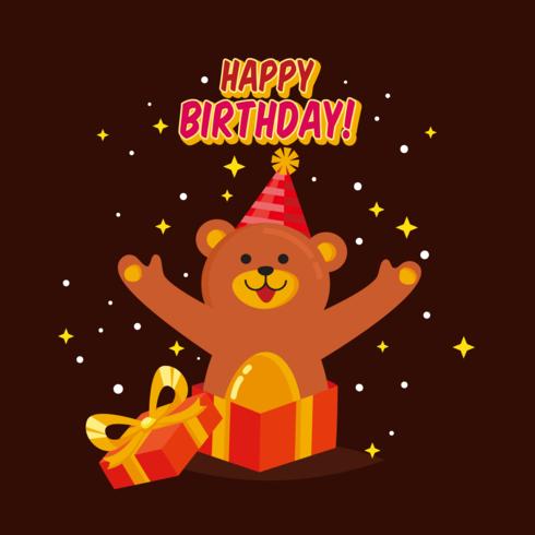 Happy Birthday Animals Vector