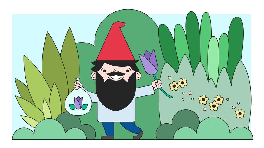vector de jardín gnome