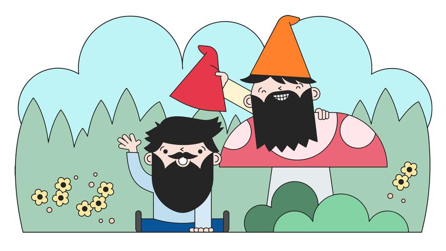 gnome grappen vector