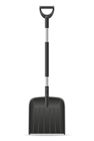 snow shovels vector illustration
