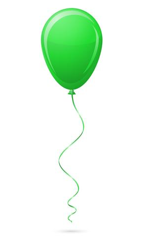 green balloon vector illustration