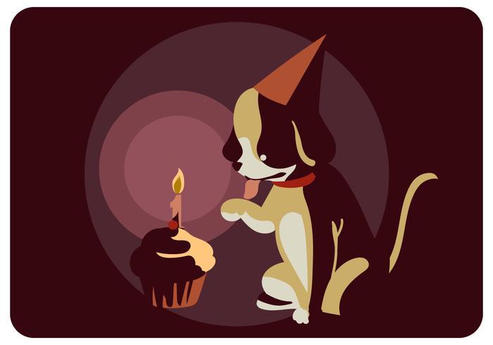 Vecteur d'anniversaire de chien
