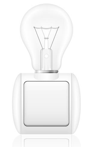 concept of light bulb with a switch vector illustration
