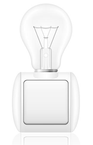 concetto di lampadina con un interruttore illustrazione vettoriale