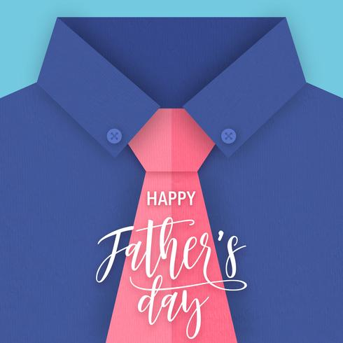 Father's Day Paper Art Greeting Card