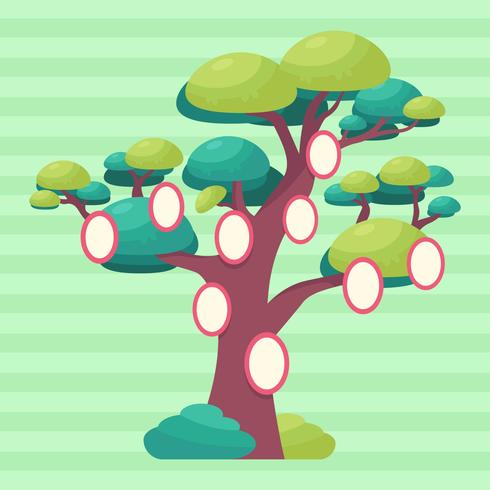 Árbol genealógico plantilla vector